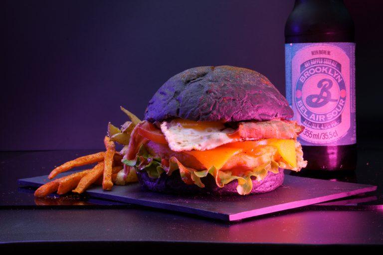 menu hamburger frite biere